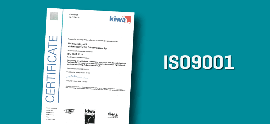 New ISO certificates after audit